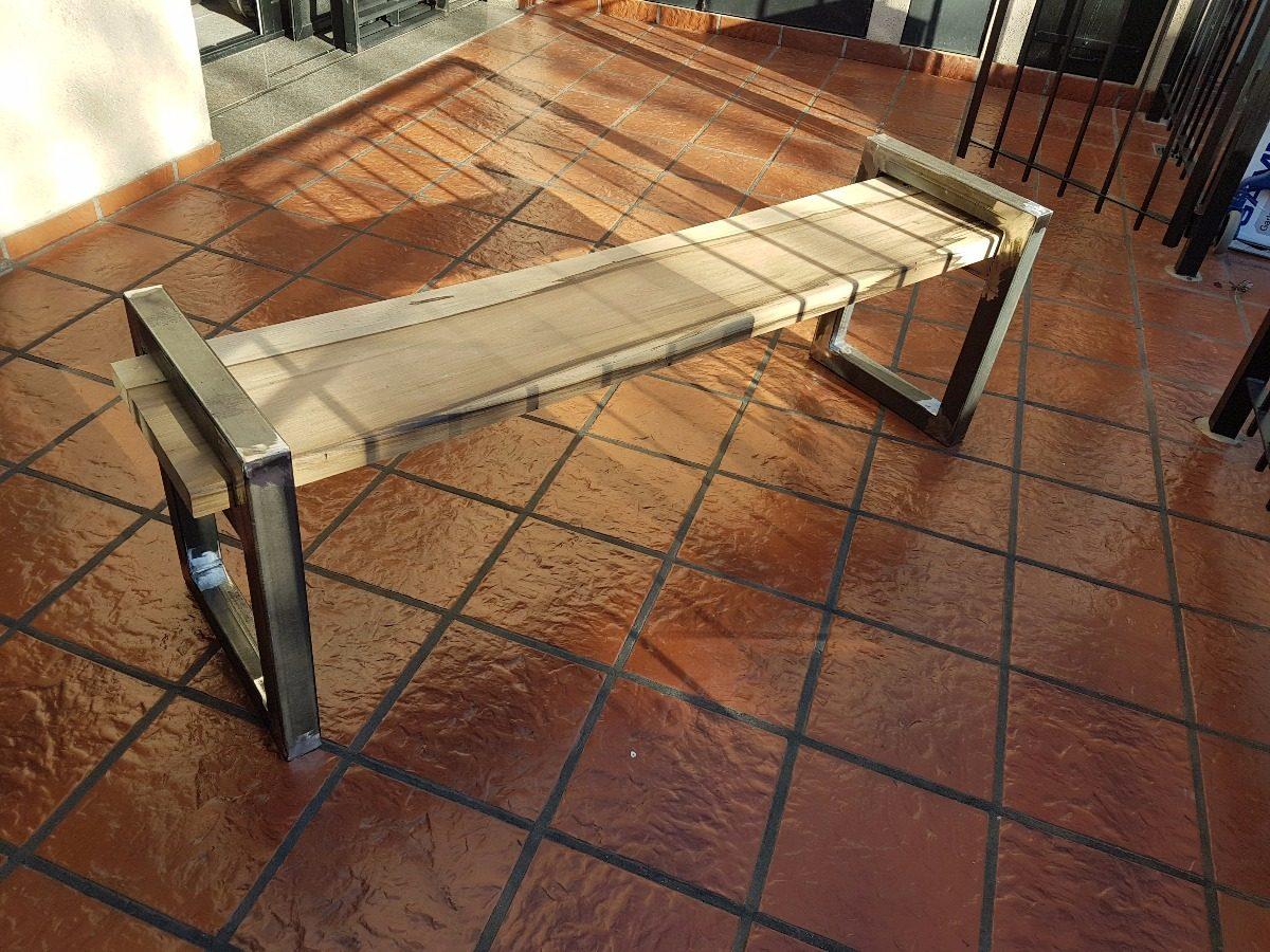 Mueble Hierro Y Madera Banco Ca O Industrial Vintage  # Muebles Don Bosco