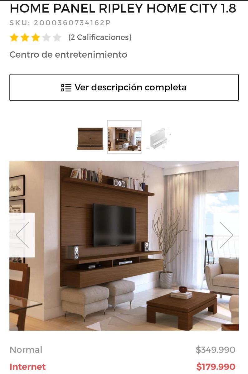 Mueble Home Tv Pared 129 990 En Mercado Libre # Muebles Ripley Santiago