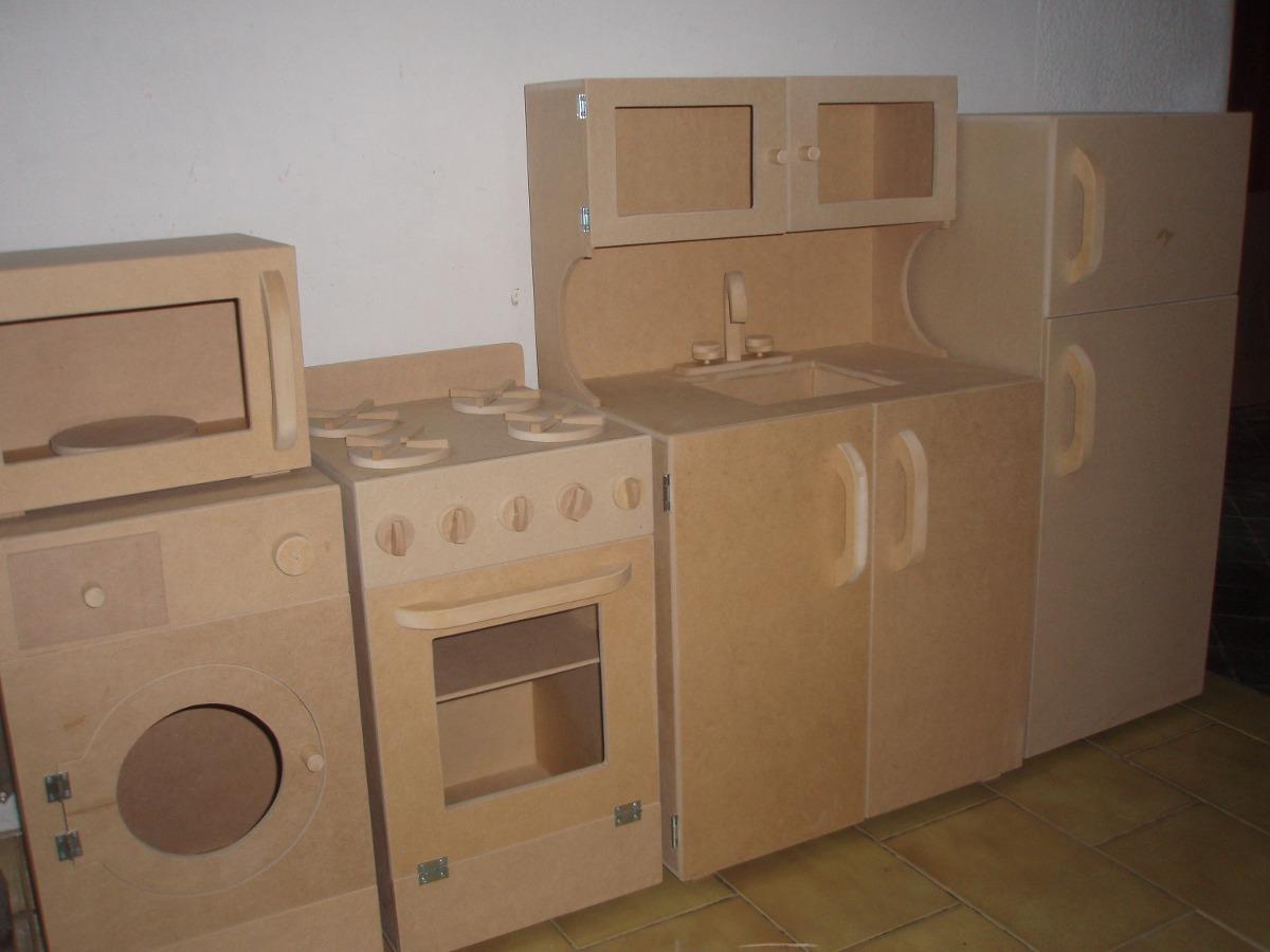 Mueble Infantil Cocina Con Horno Sin Pintar - $ 735,00 en Mercado Libre