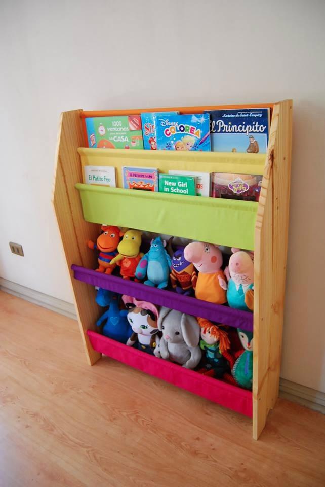 Mueble infantil organizador de juguetes y librero 50 - Mueble para guardar juguetes ...
