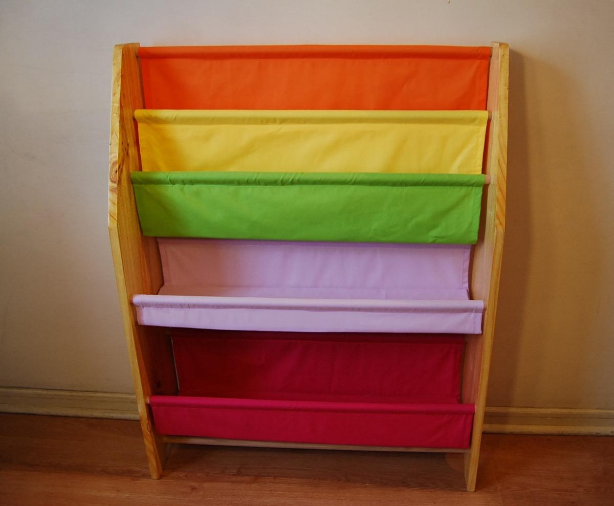 Mueble infantil organizador de juguetes y librero 50 for Pegatinas infantiles para muebles