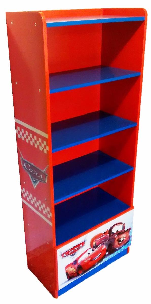 Mueble infantil para libros y juguetes cars rayo mcqueen for Mueble libreria infantil