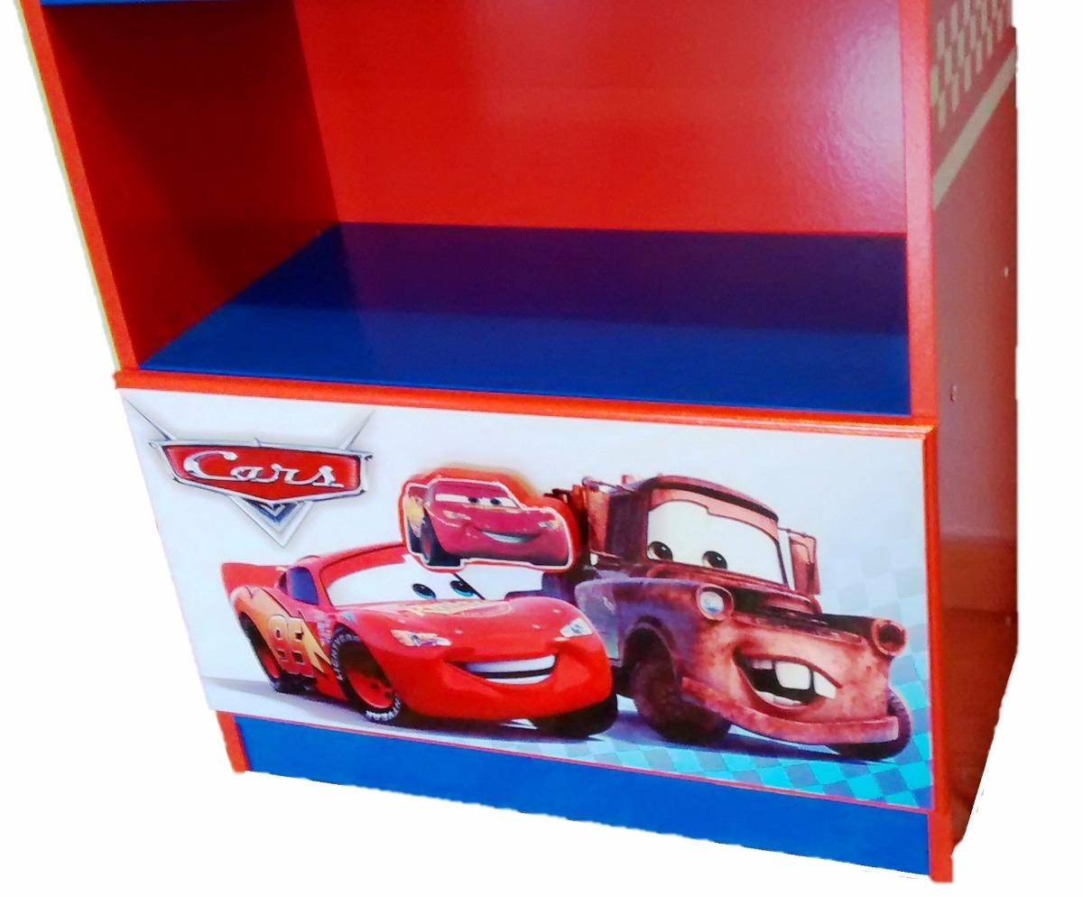Mueble infantil para libros y juguetes cars rayo mcqueen for Mueble juguetes