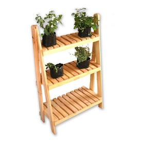 Mueble Jardín Jardinera Plegable En Madera Pino 100 X 67 Cm