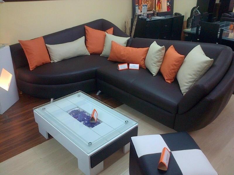 Mueble, juego de sala, modular moderno, semicuero   bs. 1.590.500 ...