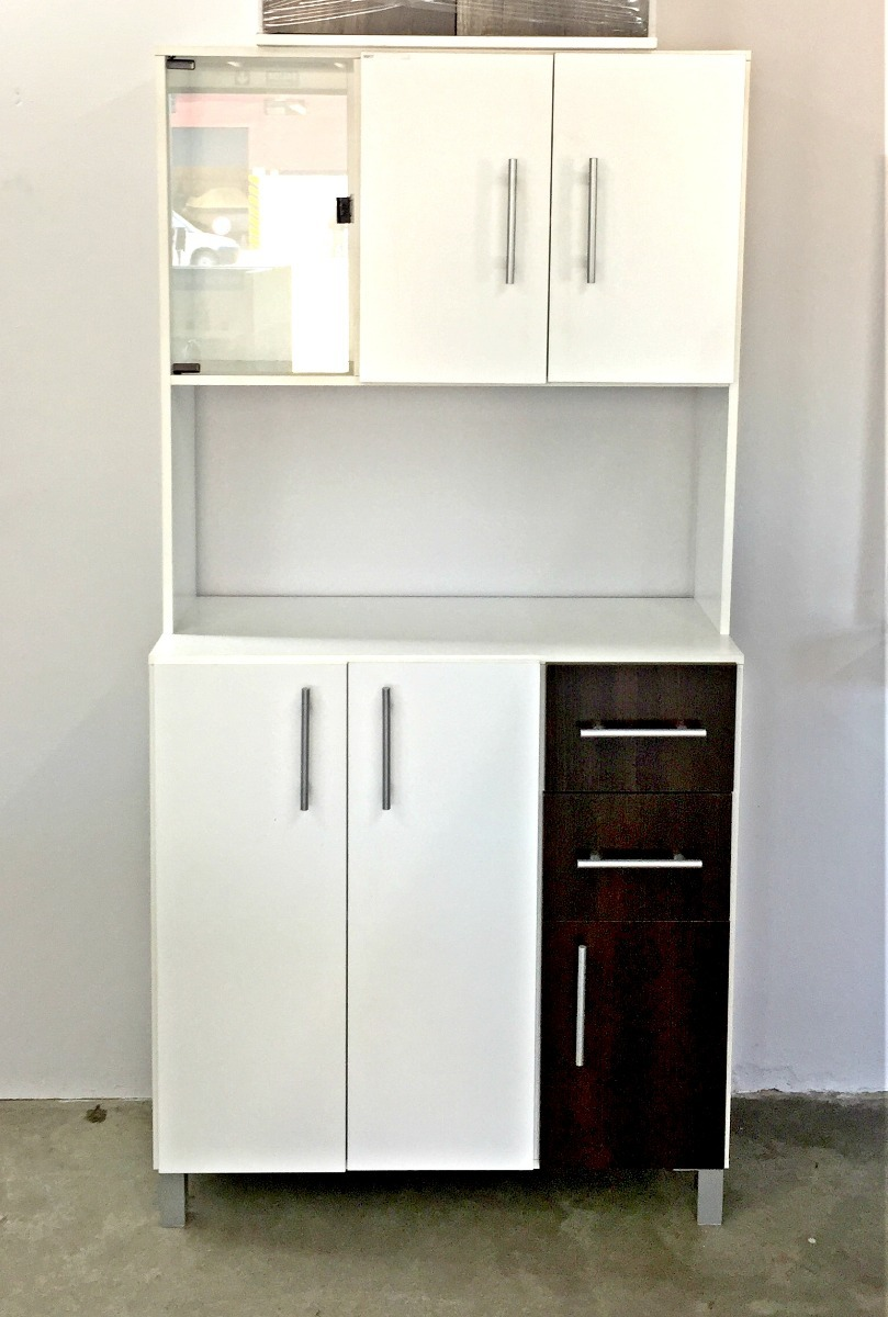 Mueble Kit Cocina 1,80 X 0,90 X 0,40 Blanco/wengue - $ 5.990,00 en ...