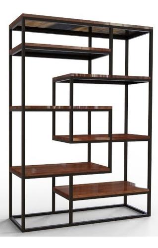 mueble laberinto de madera y herrería