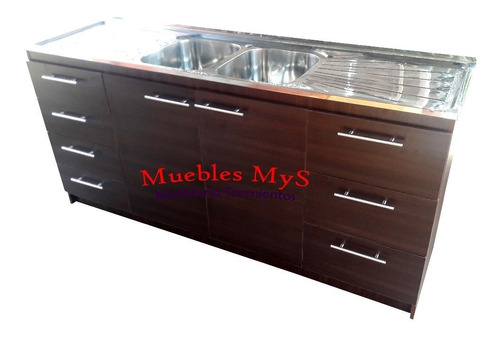 mueble lavaplatos 180 x 50 cm color cafe/ @sarmientosmys