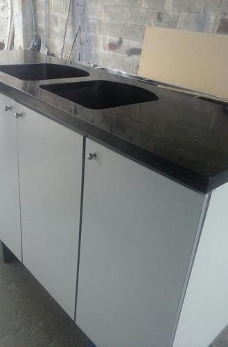 Mueble lavaplatos fregadero tope cuarzo marmol granito bs en mercado libre - Fregadero de granito ...