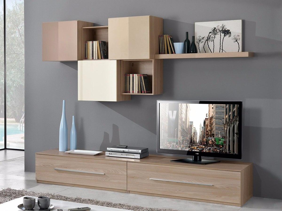 Mueble Lcd Mesa De Tv Modular Asis Rack Moderno Melamina  # Muebles Cipriano