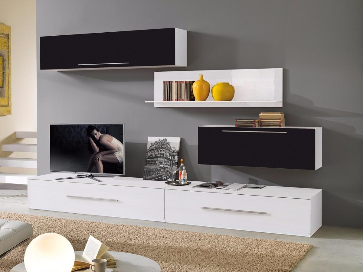 Mueble Lcd Mesa De Tv Modular Led Rack Moderno Crotona  # Muebles Cipriano