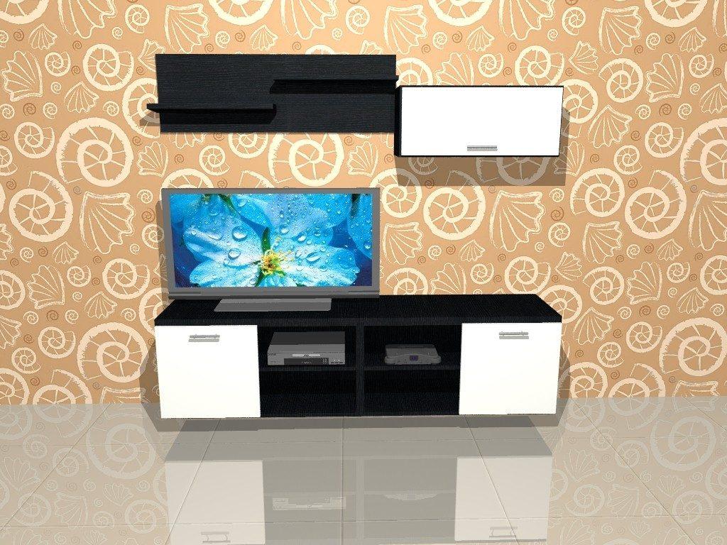 Mueble Lcd Mesa De Tv Vajillero Modular Led Marsala 1 80 Mt  # Muebles Cipriano Lanus