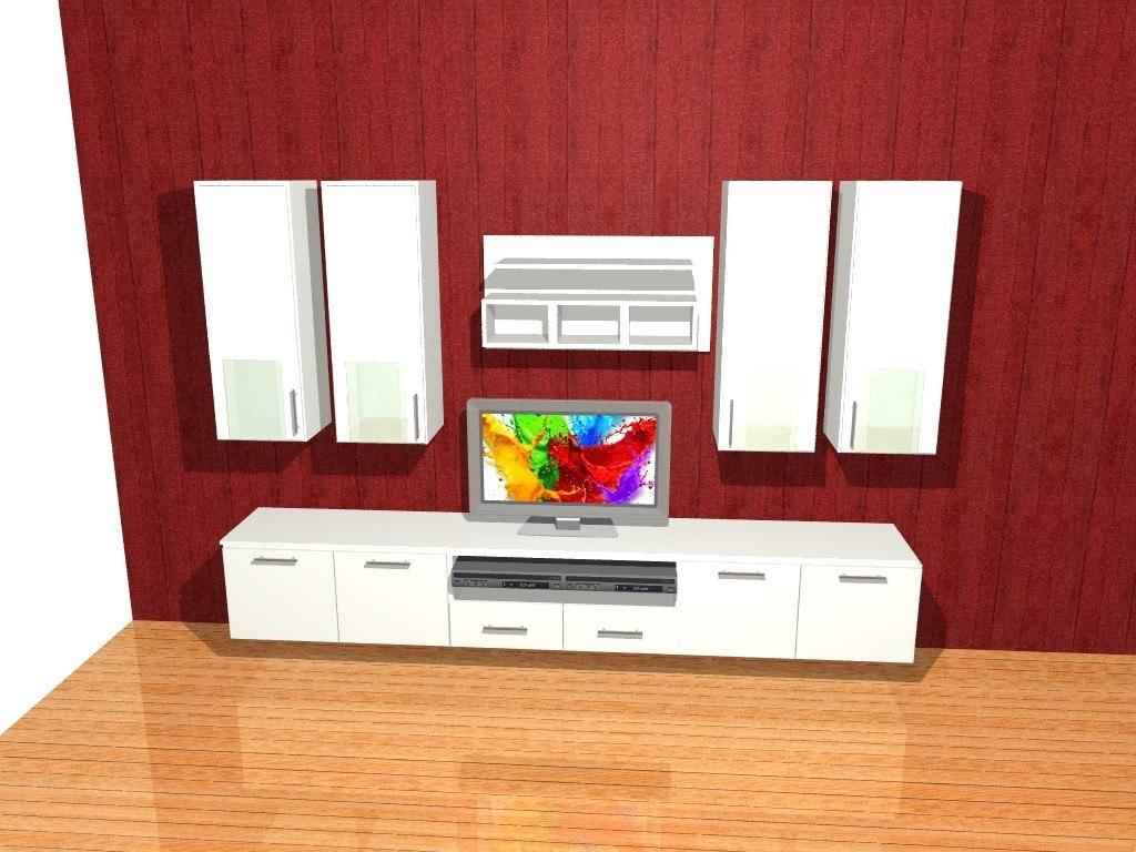 Mueble Lcd Mesa De Tv Vajillero Modular Led Rack Carrara  # Muebles Cipriano Lanus