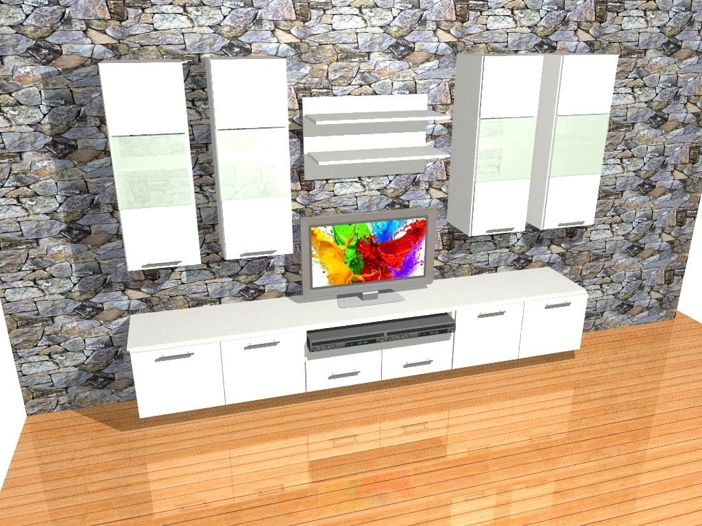 Mueble Lcd Mesa Tv Thiago 3 Mts Modular Led Rack Moderno  # Muebles Cipriano
