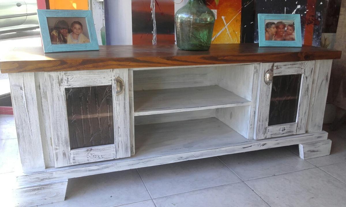 Mueble Led Madera Patinado 6 950 00 En Mercado Libre # Muebles Wood Haedo