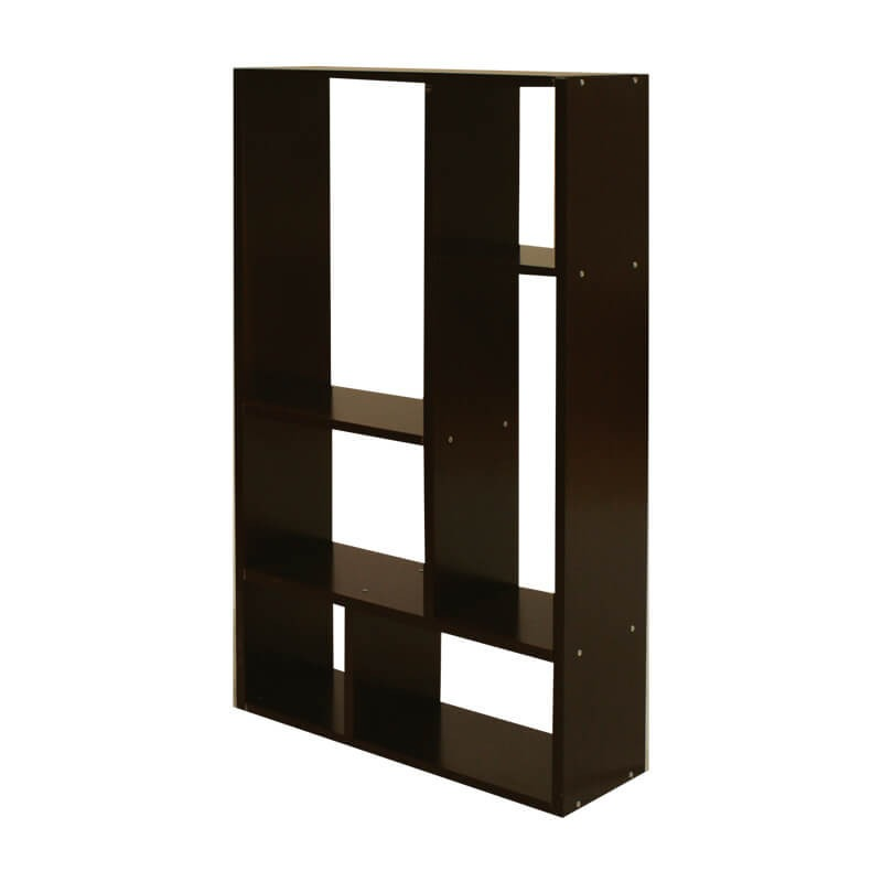 Mueble librero organizador ibiza chocolate nogal blanco for Mueble librero