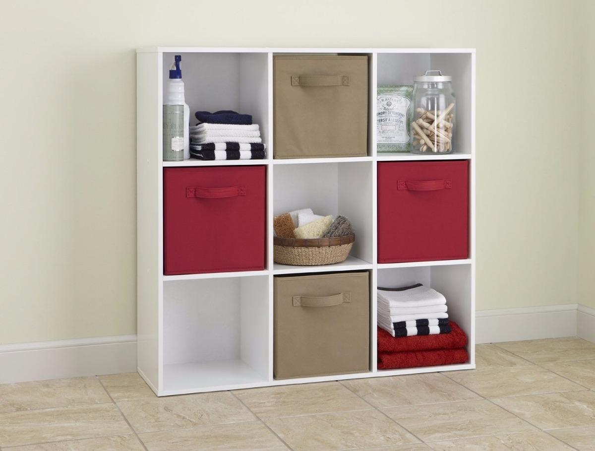 Mueble librero organizador maid 9 cubos color negro y for Muebles de oficina nuevo laredo