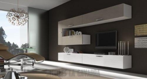 Mueble Living Modular Lcd Moderno Tv Comedor Progetto Mobili ...