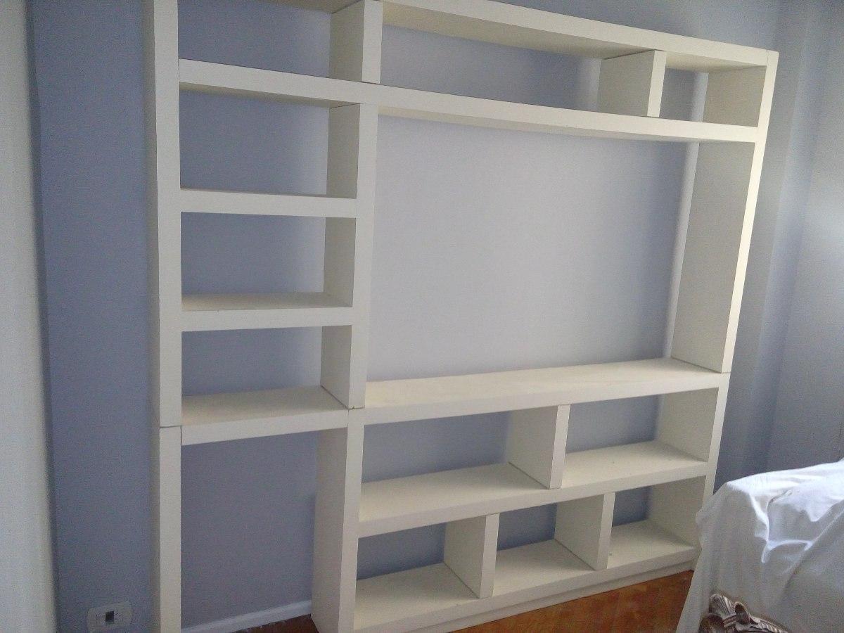 Mueble Living Rack Biblioteca O Modular 2 700 00 En Mercado Libre # Muebles Bibliotecas Para Living