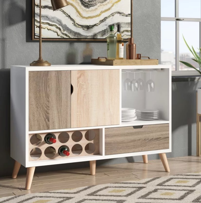 Mueble Madera Buffet Bar Cantina Rogerson Muebles Comedor ...