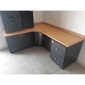 Mueble Madera Escritorio Tipo L Con Archivo