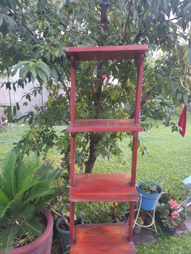 mueble madera maciza con 4 entrepaños