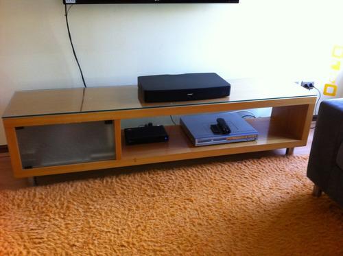 mueble madera sala estar o living usado