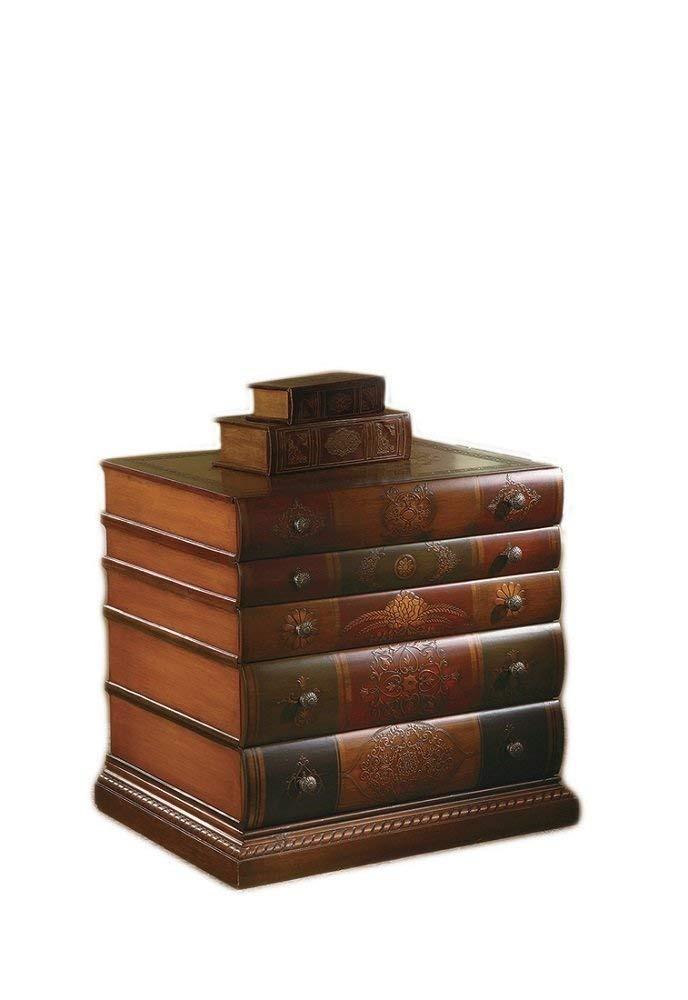 Mueble madera tipo librero antiguo pintado a mano elegante - Muebles de madera pintados a mano ...