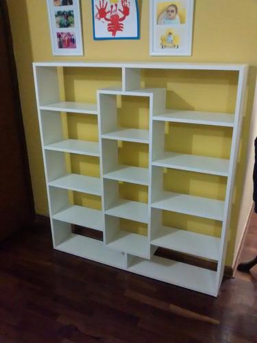 mueble melamina librero separador ambiente estante zapatero
