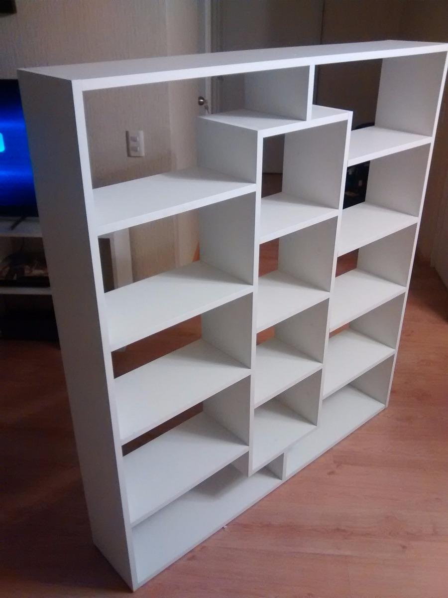 Mueble melamina librero separador ambiente estante for Muebles para zapatos en melamina