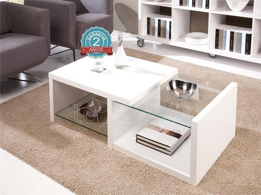 Mueble mesa de centro sala living s 209 00 en mercado for Mesas de salon de cristal