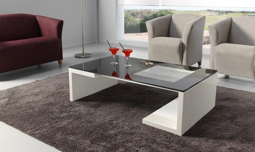 Mueble mesa de centro modernas de melamina s 199 99 en for Mesas de centro para sala modernas
