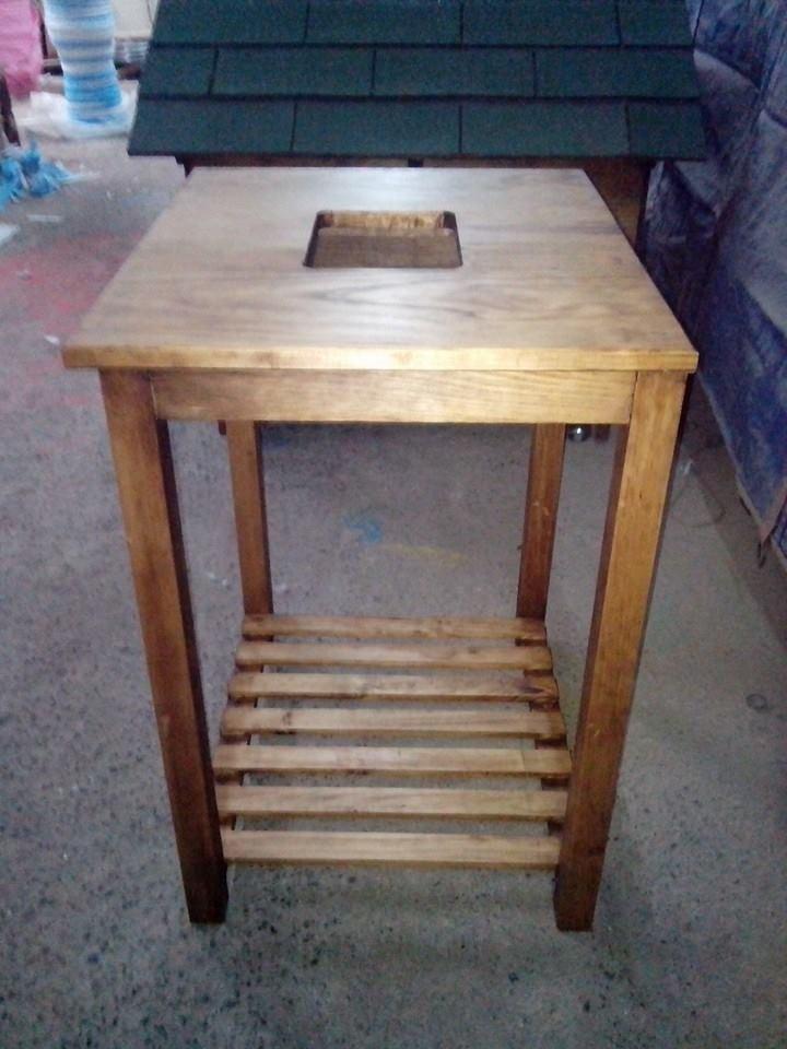 Mueble mesa para lavabo minimalista 100 madera vv4 - Mueble lavabo madera ...
