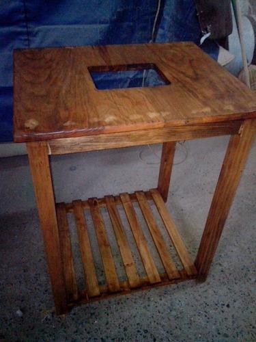 Mueble mesa para lavabo minimalista 100 madera vv4 1 en mercado libre - Mueble lavabo madera ...