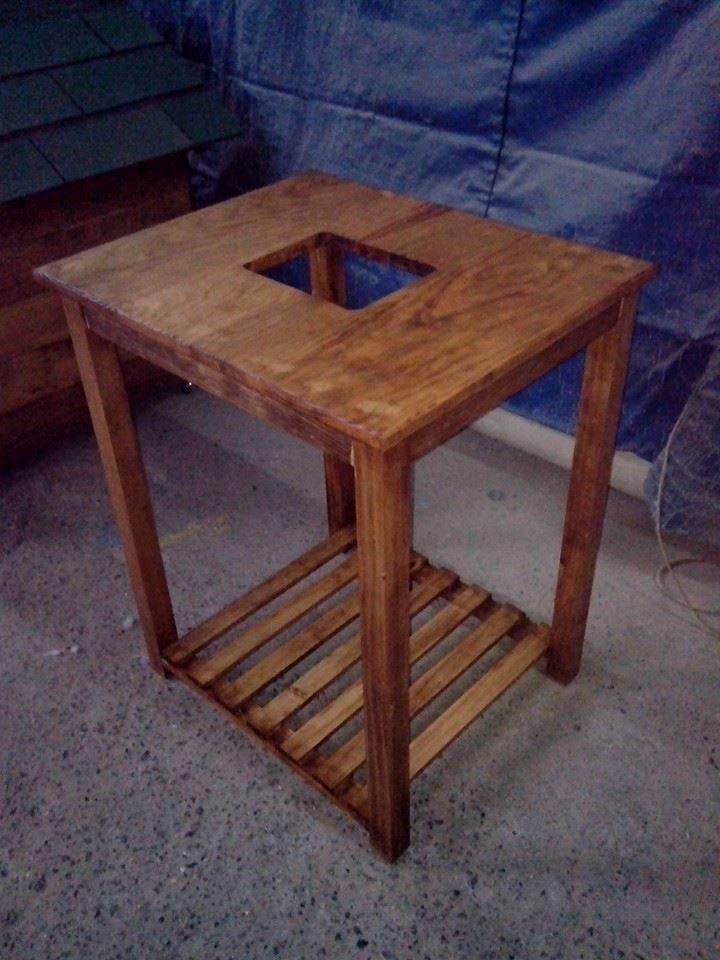 Mueble mesa para lavabo minimalista 100 madera vv4 for Mueble lavabo madera