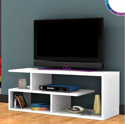 mueble mesa para tv led rack 100 cm blanco