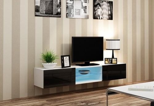 mueble mesa tv flotante centro entretenimiento mini