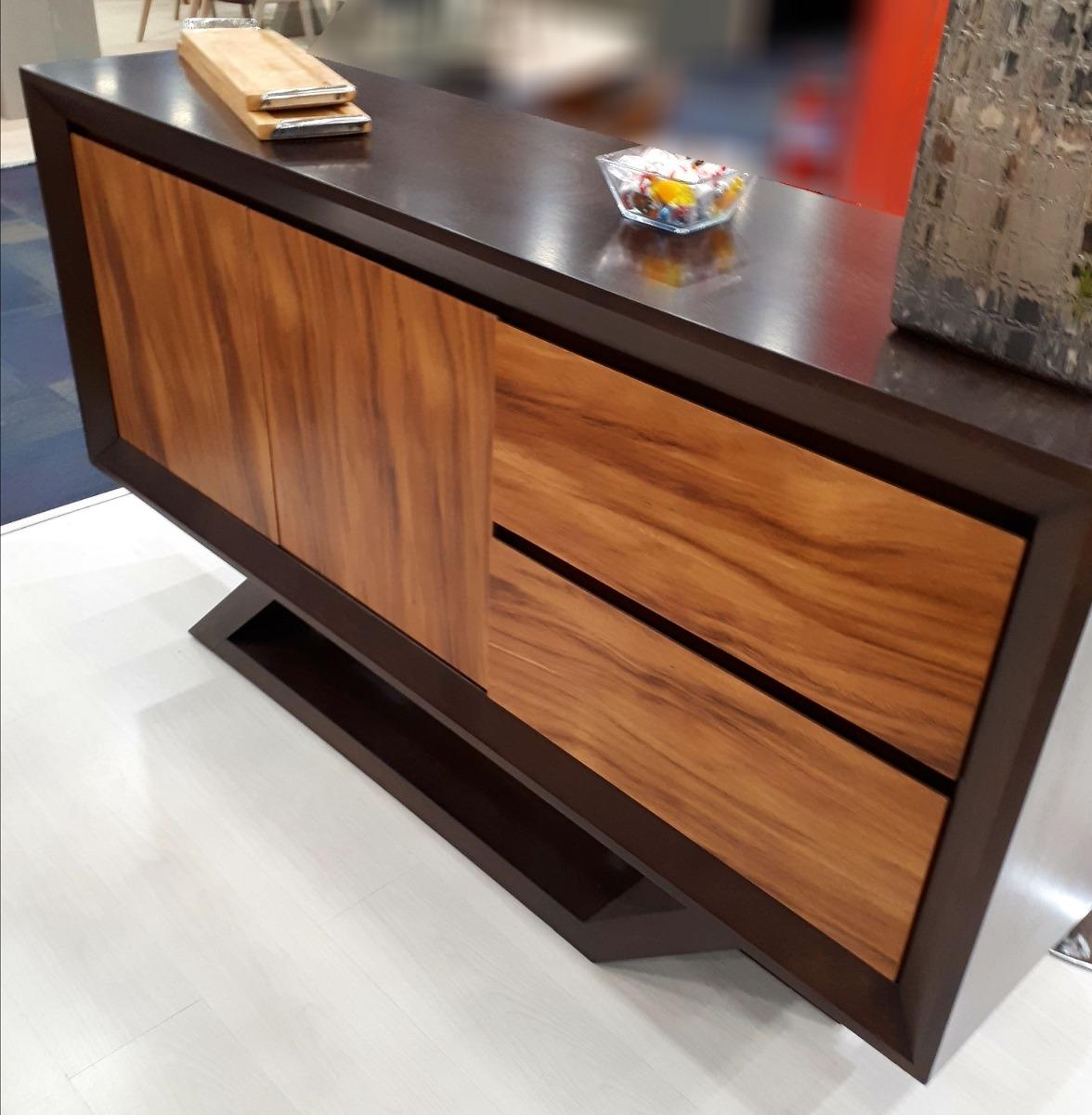 Mueble moderno elaborado en madera de parota los 4 - Muebles de madera modernos ...
