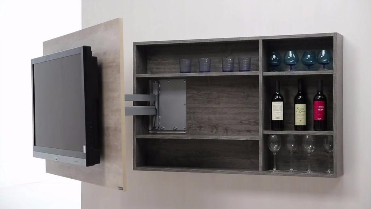 Mueble modular colgante para tv 55 vinera biblioteca bs for Mueble moderno para tv