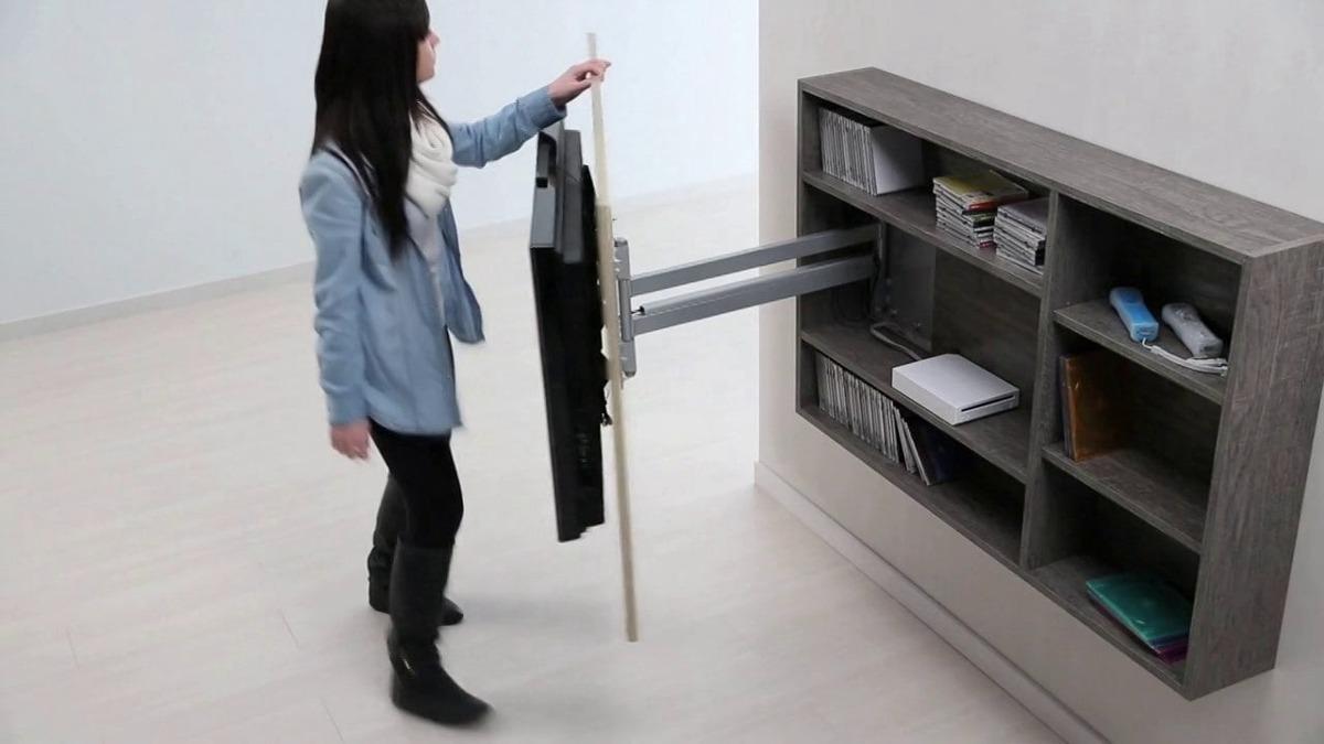 Mueble modular colgante para tv 55 vinera biblioteca bs for Muebles para smart tv 55