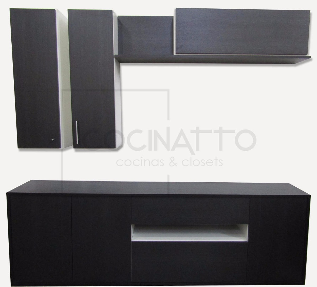 Mueble Modular Rack Led Vajillero Calidad Premium 11 499 00 En  # Muebles Oeste Miramar