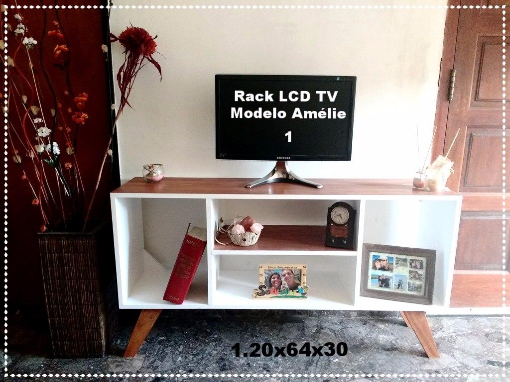 Mueble Modular Rack Tv Lcd N Rdico Retro Escandinavo Vintage  # Muebles Nunez Rosario
