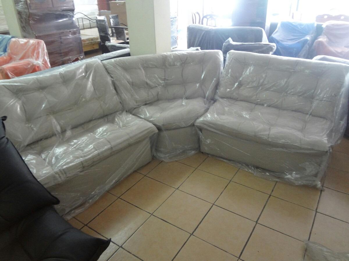 Mueble modular semi luna tapizados en semi cuero bs 1 for Juego de sala en cuero