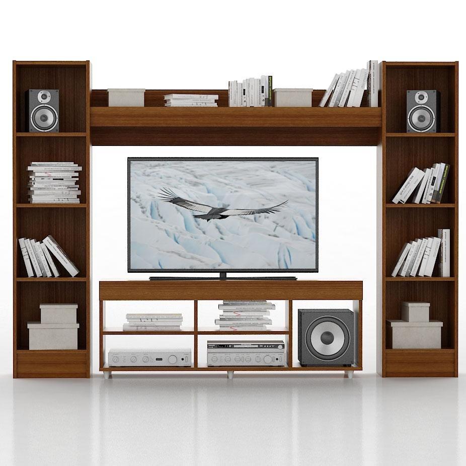 Mueble Modular Tv Led Lcd Nogal Fiplasto 7 999 00 En  # Muebles Fiplasto