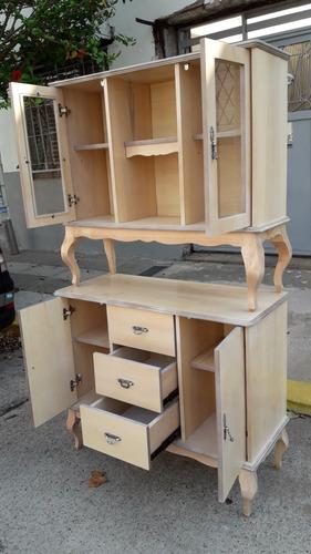 mueble modular, vajillero, cristalero modelo luis xv francés. juntos o separados. fabricante.realizados a pedido. rodari