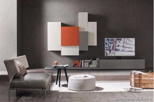 mueble modular vajillero led moderno progetto mobili