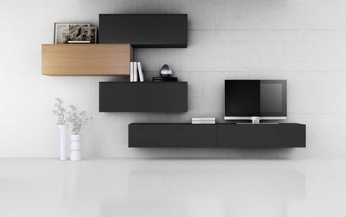 mueble modular vajillero living comedor  progetto mobili