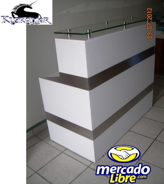 Mueble mostrador escritorio para recepcion 4 for Mueble para escritorio
