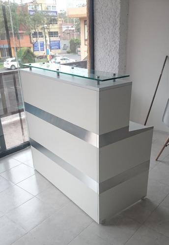 Mueble mostrador escritorio para recepcion mod blankis - Mostradores para oficinas ...