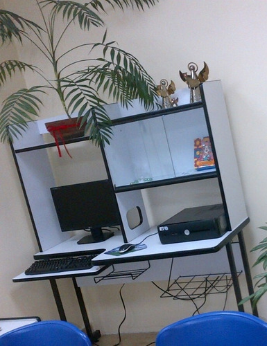 mueble multifuncional para computadora impresora laptop